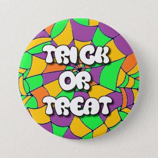 Bouton de Halloween de des bonbons ou un sort Badges