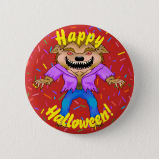 Bouton de Halloween de loup-garou Badge