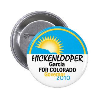 Bouton de Hickenlooper Garcia 2010 Badges