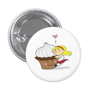 Bouton de Hugger Cutie de petit gâteau Badges