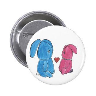 Bouton de Hunny Bunnys Badge Rond 5 Cm