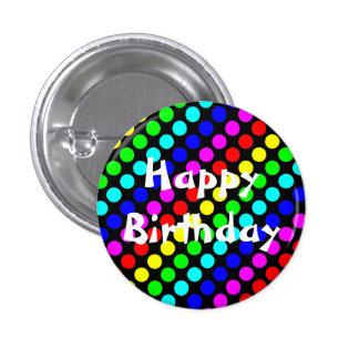 Bouton de joyeux anniversaire badge avec épingle