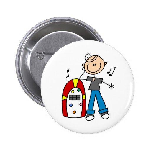 Bouton de juke-box de rock badge