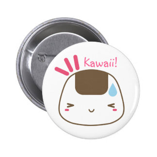 Bouton de Kawaii Onigiri Badges