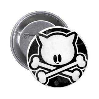 Bouton de Kitty de crâne Badge Rond 5 Cm