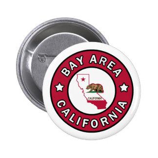 Bouton de la Californie de région de baie Badge Rond 5 Cm