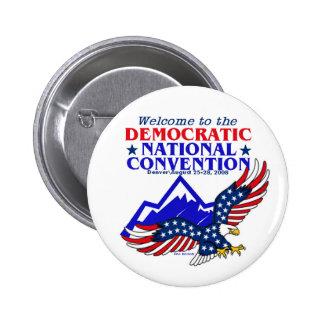 Bouton de la convention DNC Obama Badges