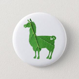 Bouton de lama de feuille badge