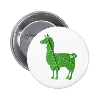 Bouton de lama de feuille badge