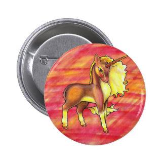 Bouton de licorne d'automne badge
