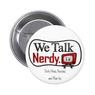 Bouton de logo de WeTalkNerdy.tv Badge Rond 5 Cm
