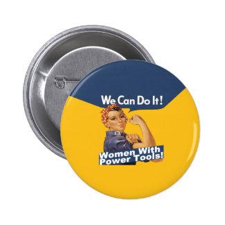 Bouton de machines-outils des femmes W Badge Rond 5 Cm