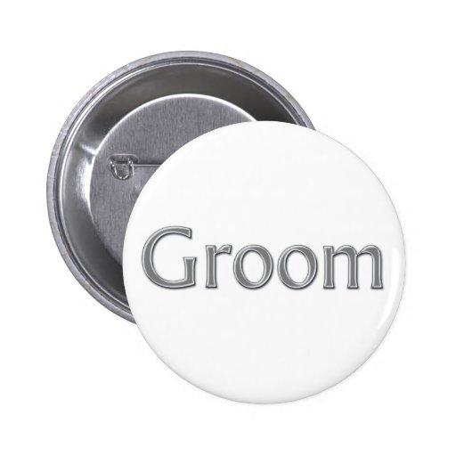 Bouton de mariage de marié badge avec épingle