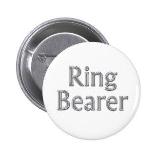 Bouton de mariage de porteur d'alliances de gris badges