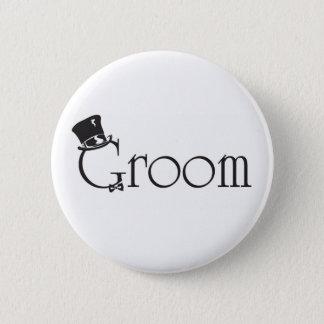 Bouton de marié badge