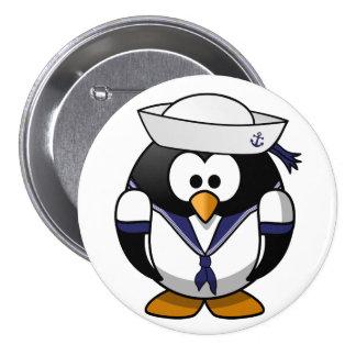 Bouton de marin de pingouin badge