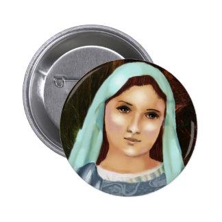 Bouton de Mary de Vierge Marie Badge Rond 5 Cm