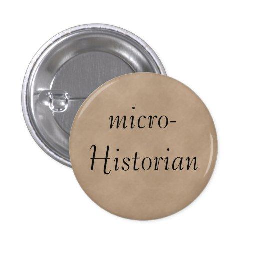 Bouton de micro-Historien Badges Avec Agrafe