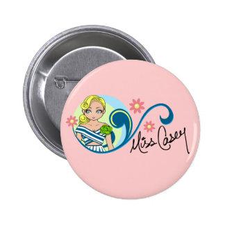 """Bouton de """"Mlle Casey"""" Badge"""