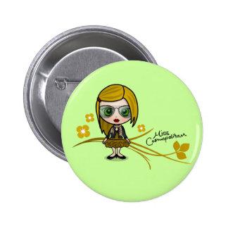 "Bouton de ""Mlle Cosmopolitan"" Badges"
