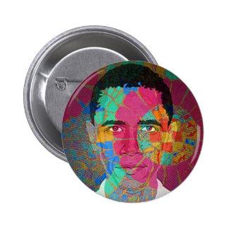 Bouton de Mosaïque-style d'Obama Pin's