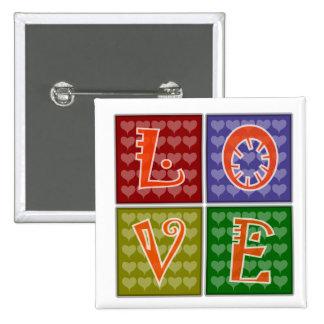 Bouton de mot d amour pin's avec agrafe