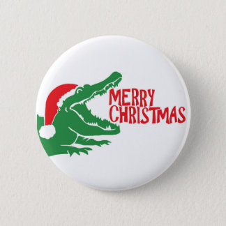 Bouton de Noël d'alligator Badges