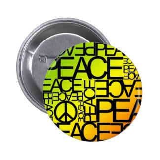 Bouton de paix badge rond 5 cm