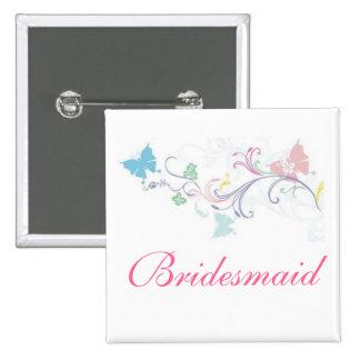 Bouton de papillon de demoiselle d'honneur pin's avec agrafe