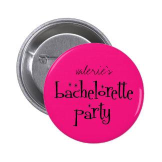 Bouton de partie de Bachelorette Badge Avec Épingle