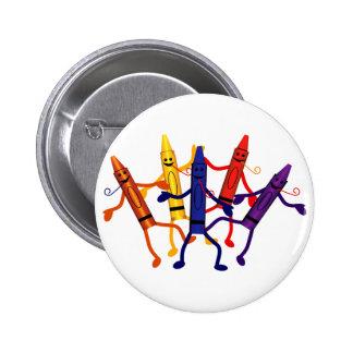 Bouton de partie de crayon badge rond 5 cm