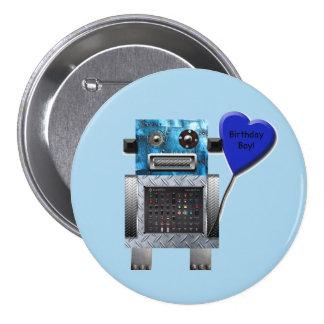 Bouton de partie de robot de garçon d'anniversaire badges