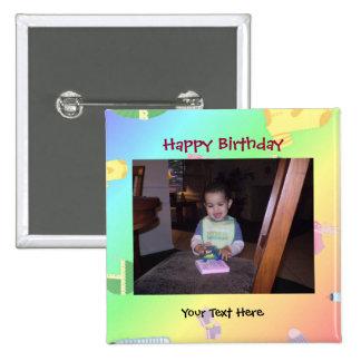 Bouton de photo d'anniversaire/Pin Pin's