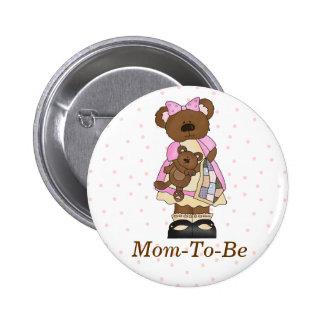 Bouton de Pin de maman de baby shower de maman Bea Pin's Avec Agrafe