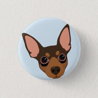 Bouton de Pinback de portrait de chien de Pinscher Badge