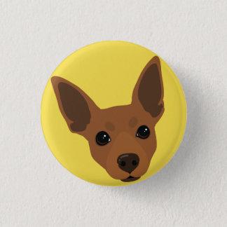 Bouton de Pinback de portrait de chien de Pinscher Badges