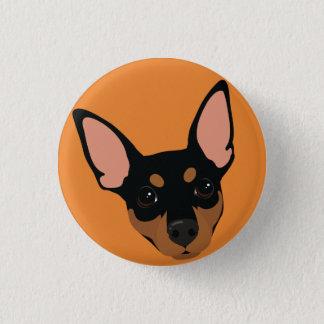 Bouton de Pinback de portrait de chien de Pinscher Pin's