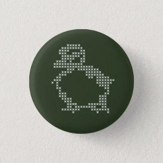 bouton de point de croix badge