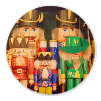 Bouton De Porte En Céramique Armée des casse-noix de Noël