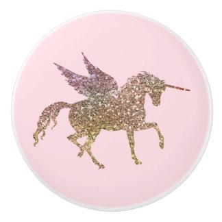 Bouton De Porte En Céramique Cheval à la mode de Pegasus de licorne d'étincelle