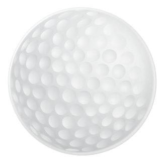 Bouton De Porte En Céramique Conception blanche de boule de golf