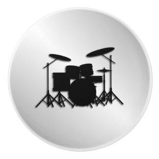 Bouton De Porte En Céramique Conception réglée de musique de tambour