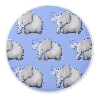 Bouton De Porte En Céramique Crèche mignonne de bébé de motif d'éléphants de