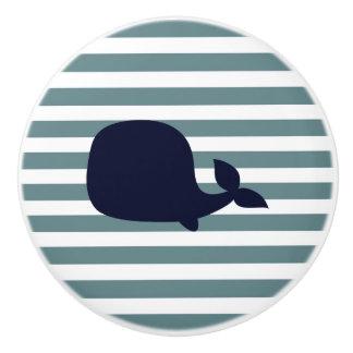 Bouton De Porte En Céramique Décor nautique mignon de crèche d'océan d'animal