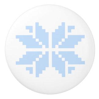 Bouton De Porte En Céramique Flocon de neige nordique