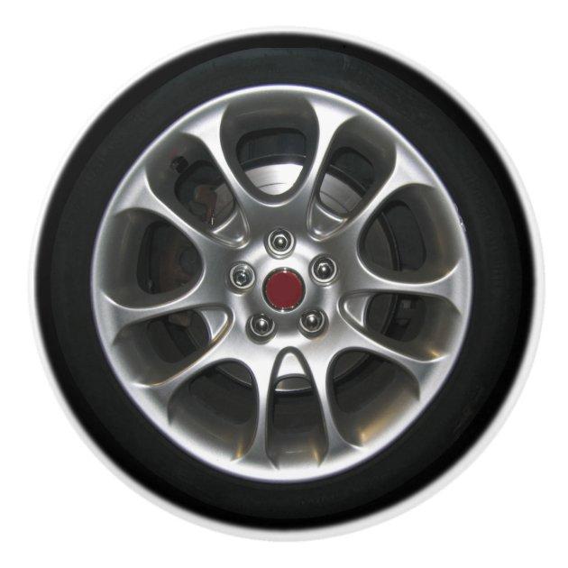 Poign/ées de Meuble pneus de roue de voiture Boutons de Placard Ronde Boutons de Tiroir pour Porte Armoire Cuisine 4pcs 3.5x2.8cm