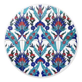 Bouton De Porte En Céramique Meubles floraux turcs de motif d'Iznik