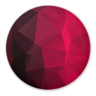 Bouton De Porte En Céramique Motif en cristal de fractale de cerise géométrique