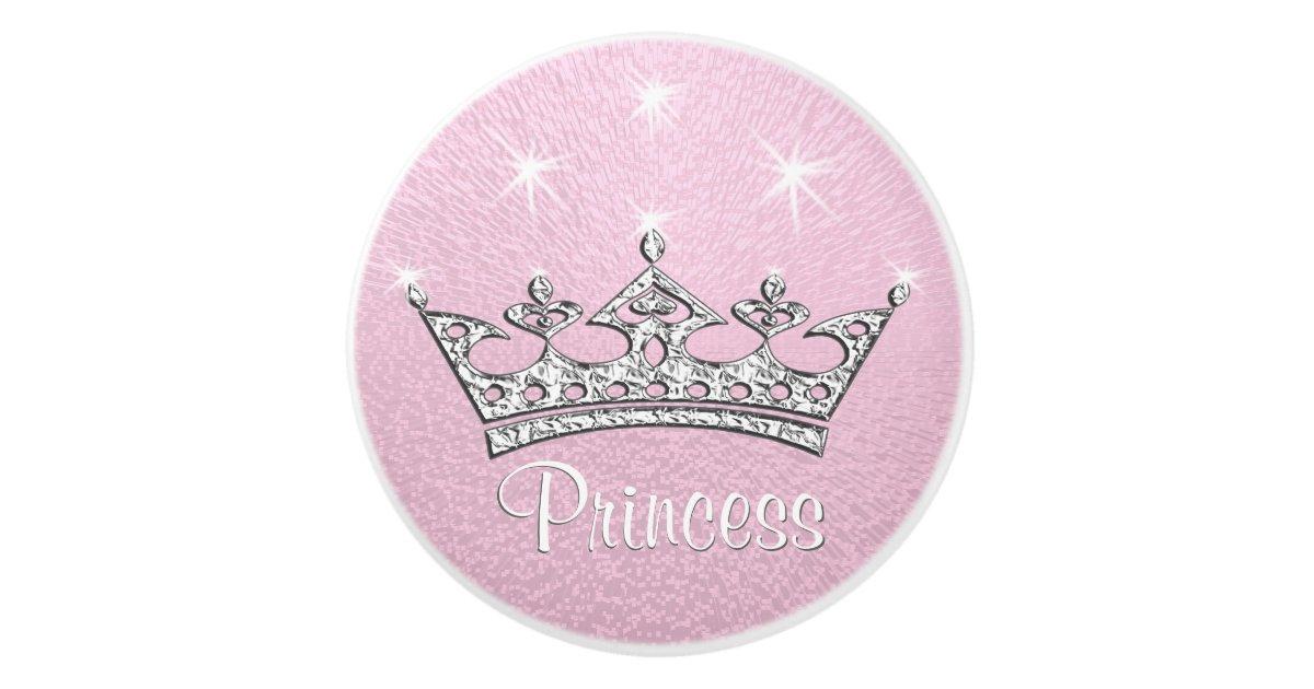 Bouton de porte en c ramique princesse custom pink knobs pour des meubles - Bouton en porcelaine pour meuble ...