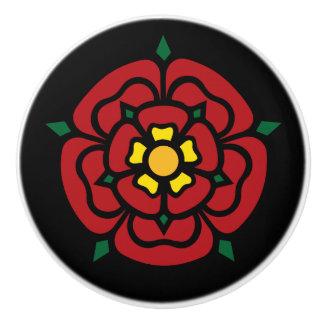 Bouton De Porte En Céramique Tudor s'est levé - l'anglais s'est levé
